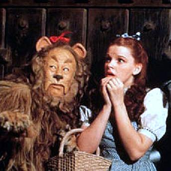 The Cowardly Lion with Dorothy